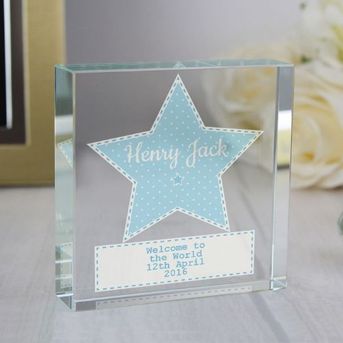 Personalised Stitch & Dot Boys Large Crystal Token